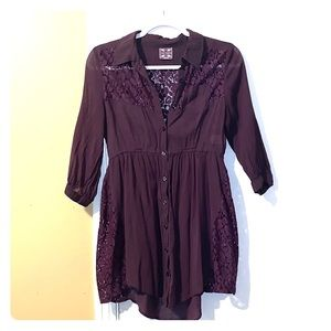 Free People Tunic- Plum